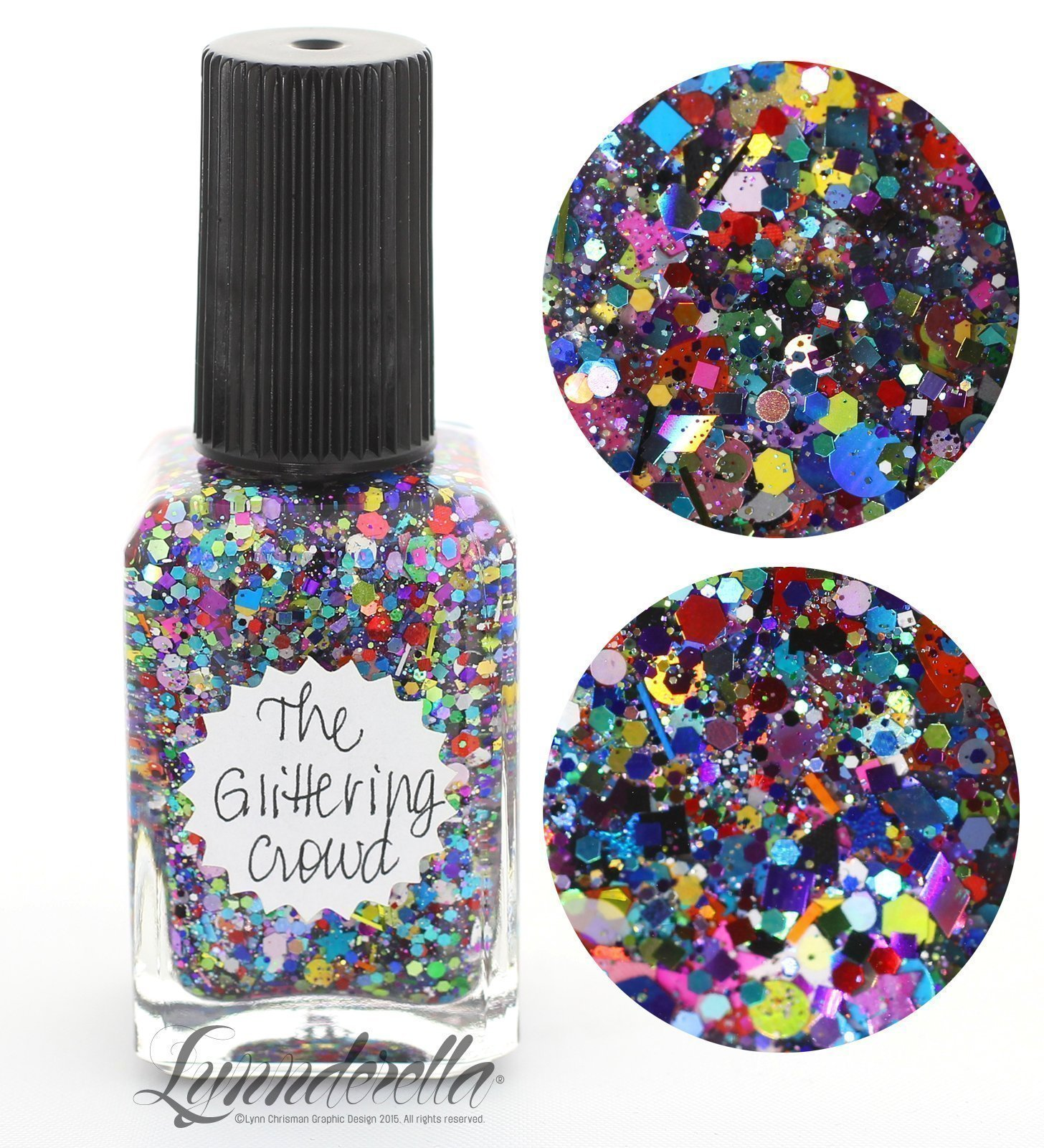 Lynnderella Multi Glitter Multi Color Nail Polish—The Glittering Crowd