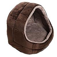Millard Premium Plush Dog Cave Bed