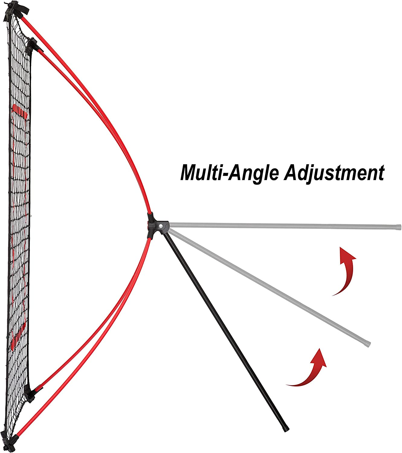 Quick Set Up Lightweight and Fielding Multi Angle Adjustment 5FT x 3FT Baseball Training Net Baseball Trainer Suitable for Throwing Pitching NET PLAYZ PitchBack Portable Baseball Rebound Net