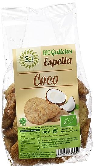 Sol Natural Galletas de Espelta con Coco - Paquete de 6 x 150 gr - Total