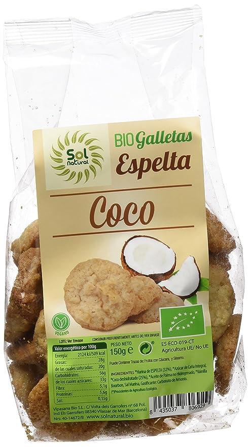 Sol Natural Galletas de Espelta con Coco - Paquete de 6 x 150 gr - Total: 900 gr: Amazon.es: Alimentación y bebidas