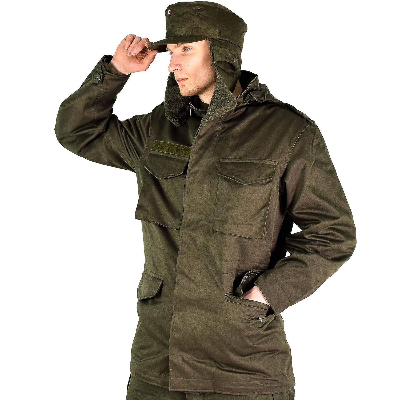 6950330c6a7a2d Genuine Austrian Army Military Winter Cap Olive O.D Austria Insignia Badge  hat Ear Flaps