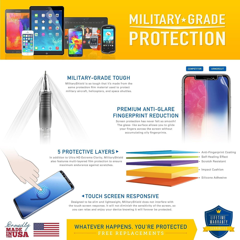 2 Pack HD Clear Anti-Bubble 4336323862 Full Coverage MilitaryShield Screen Protector for Garmin Fenix 5 ArmorSuit Garmin Fenix 5 Screen Protector