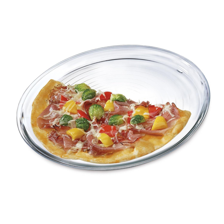 Bohemia Cristal 093006152Simax Plato para Pizza (Diámetro 32cm de Vidrio de borosilicato Pizza Plato, Cristal, Transparente, 32x 32x 1.5cm Kavalier 093 006 152