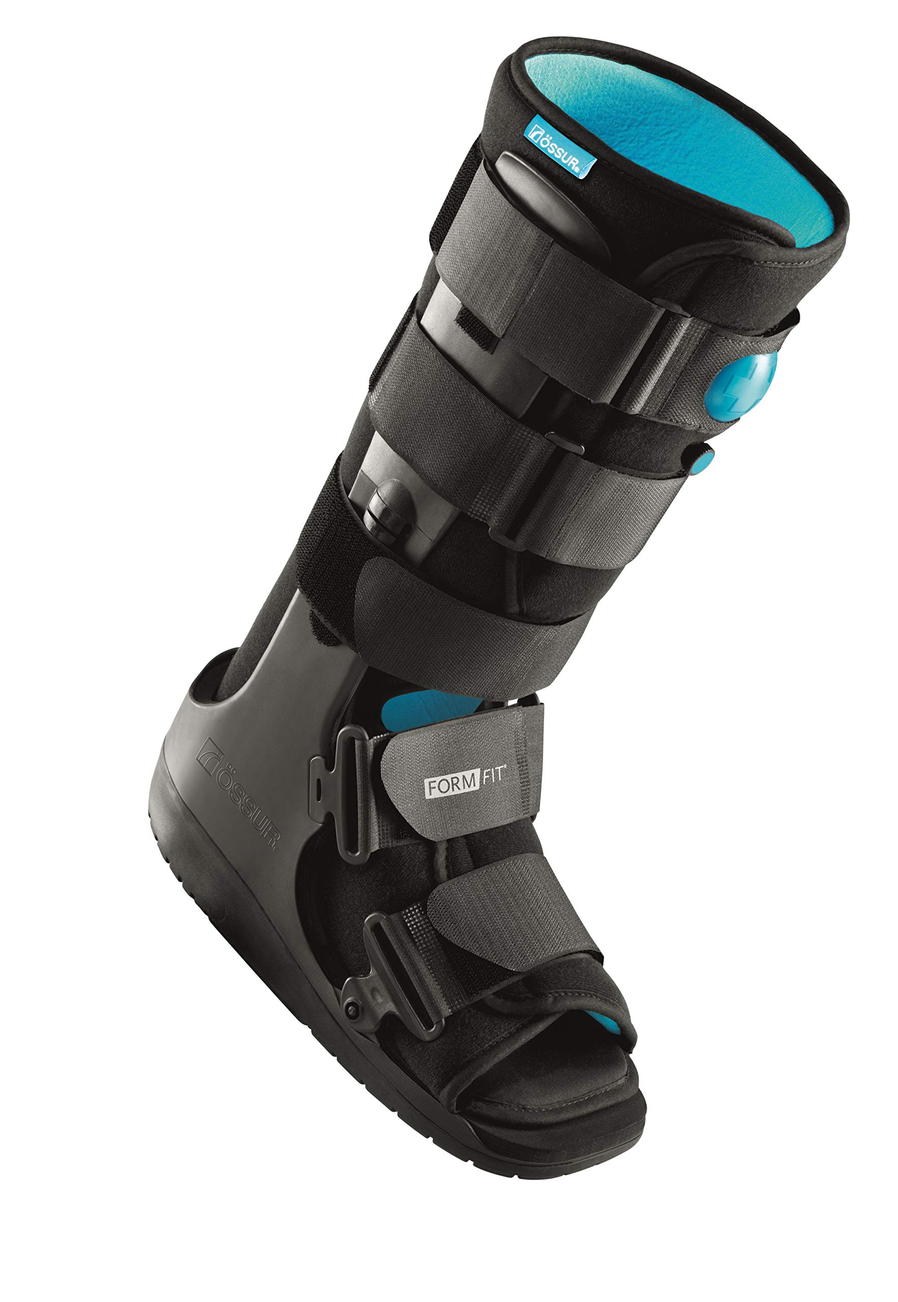 Ossur Formfit Walker with Air - Medical Grade Immobilization for Strains, Sprains & Stable Fractures with Patented Pneumatic Technology to Decrease Pain & Swelling (High Top, X-Small)