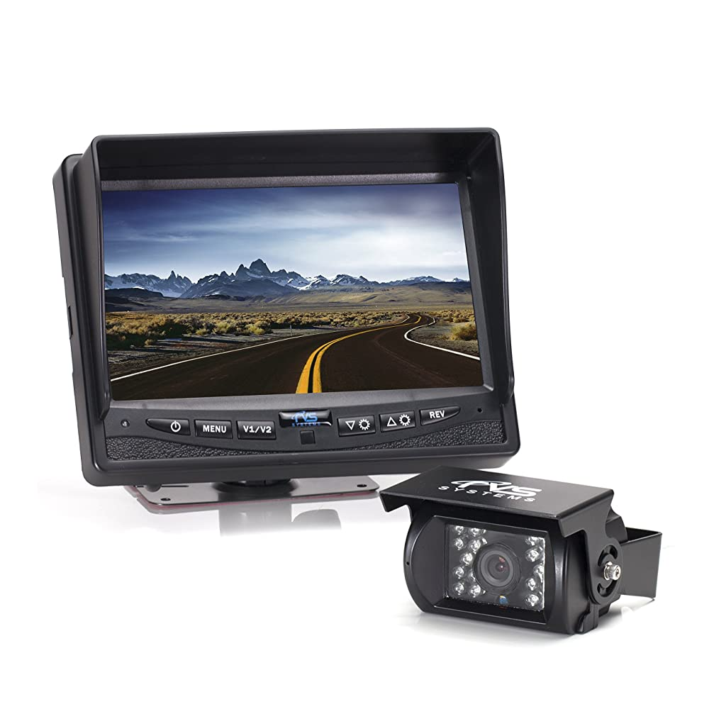 "Rear View Safety Backup Camera System with 7"" Display (Black) RVS-770613"