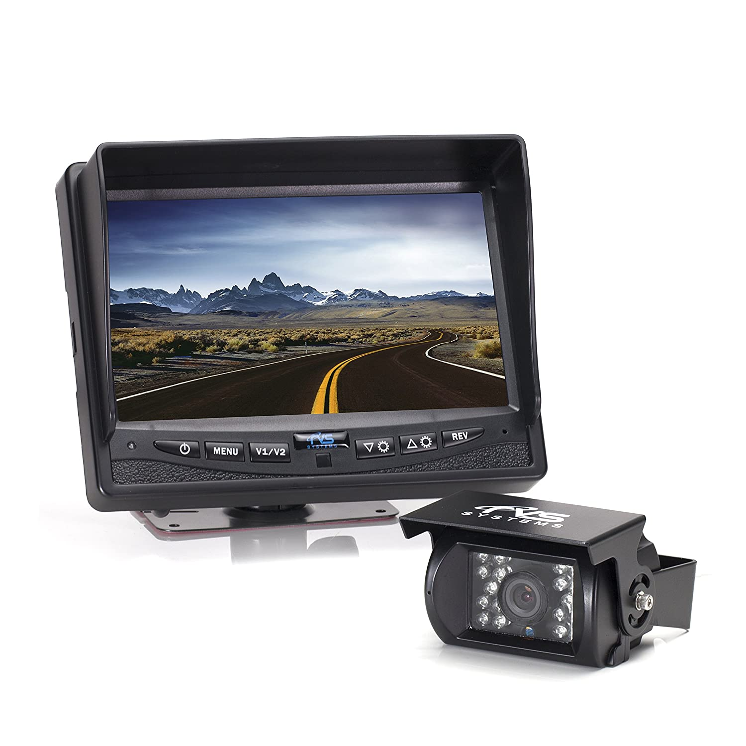Rear View Safety Backup Camera System with 7' Display (Black) RVS-770613 Rear View Safety Inc