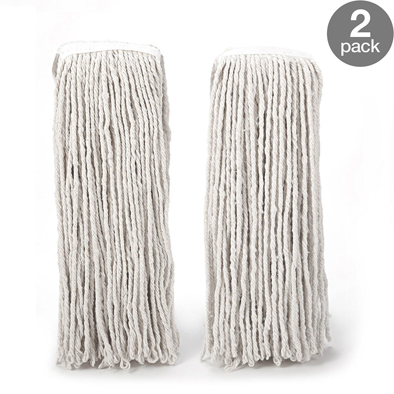 O-Cedar Heavy Duty Looped-End String Mop Refills (4 Pack) by O-Cedar