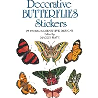 Decorative Butterflies Stickers: 29 Pressure-Sensitive Designs