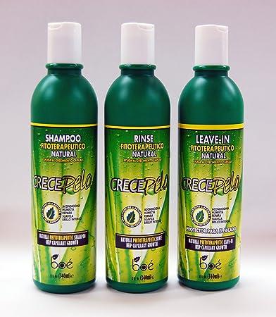 Crecepelo Combo III- Shampoo 12oz+ Rinse 12oz+ Leave-In 12oz