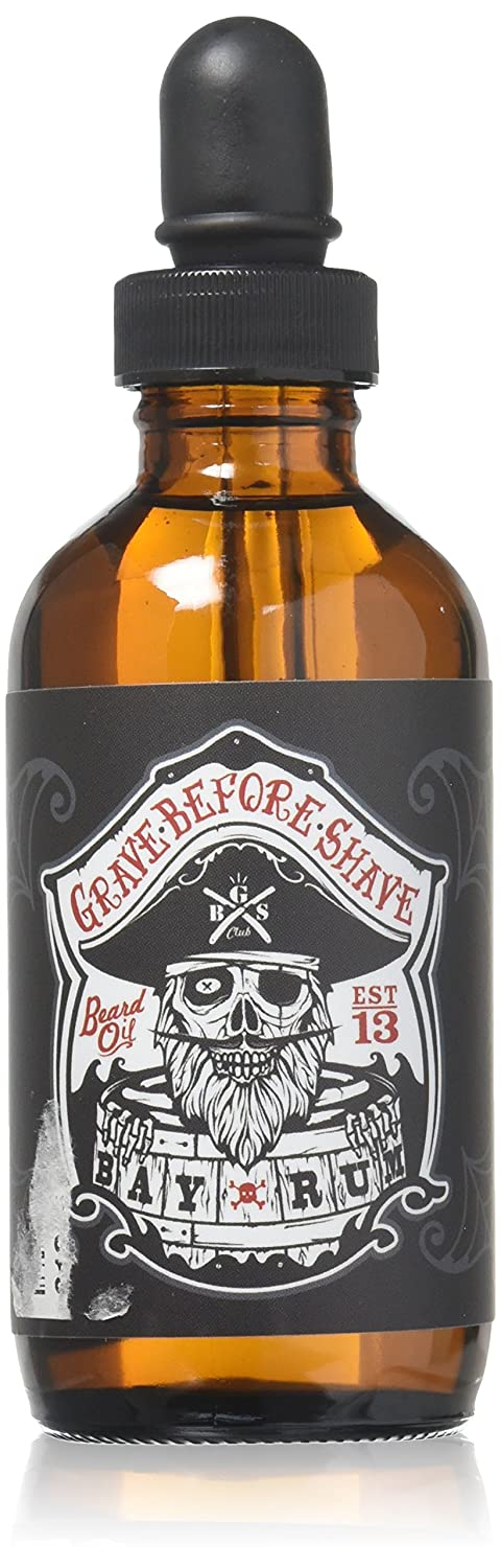 Grave Before Shave Beard Oil (Bay Rum Scent) 4 Oz. Bottle Fisticuffs Mustache Wax