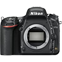 "Nikon D750 - Cámara réflex digital de 24.3 Mp (pantalla 3.2"", vídeo Full HD), color negro - Solo cuerpo,"