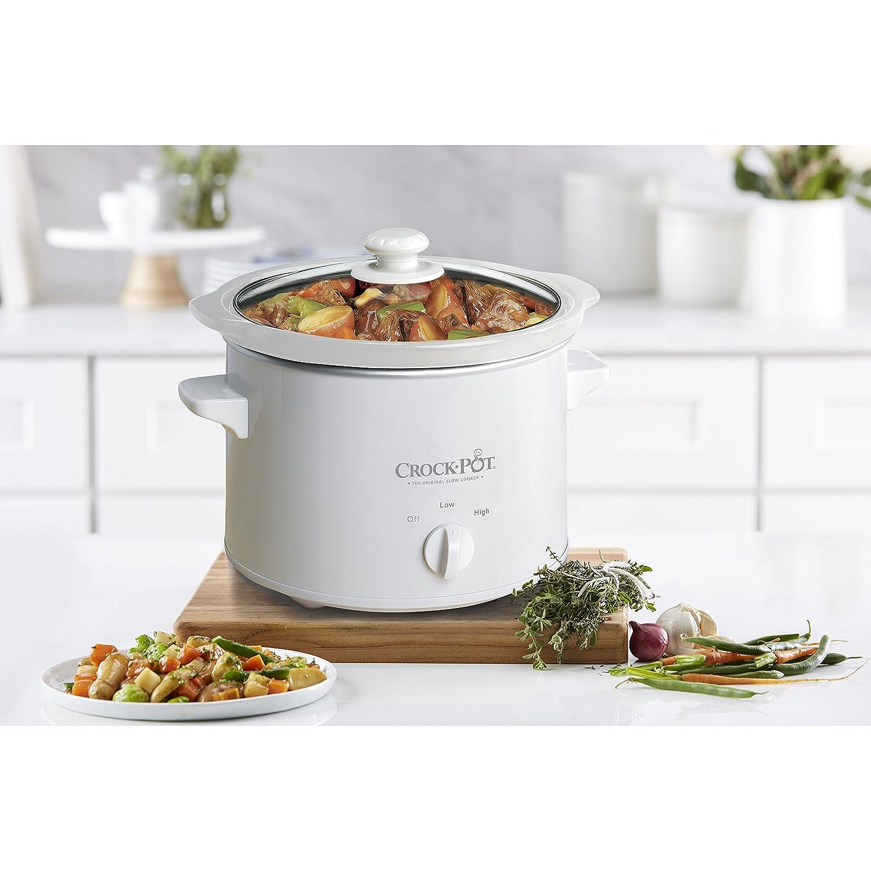 Coffee Crock-Pot 5025-WG-NP 2.5QT Slow Cooker White Mr Kitchen ...