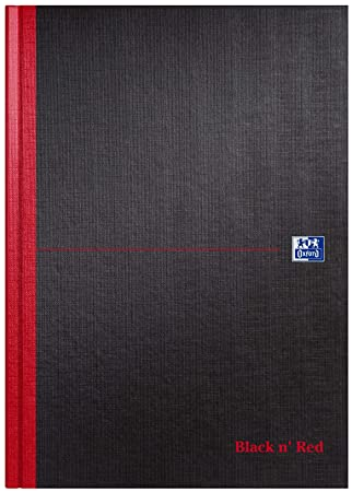 Black And Red >> Oxford Black N Red A4 Hardback Casebound Notebook Narrow Ruled With Margin 96 Page 1 Notebook