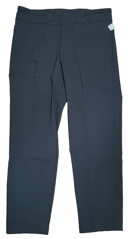 de7b0231df940 Terra   Sky Women s Plus Size Black Soot Generous Fit Millennium Pant at  Amazon Women s Clothing store