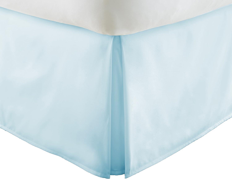 Simply Soft Pleated Bed Skirt, Queen, Aqua (SS-BEDSKIRT-Queen-Aqua)