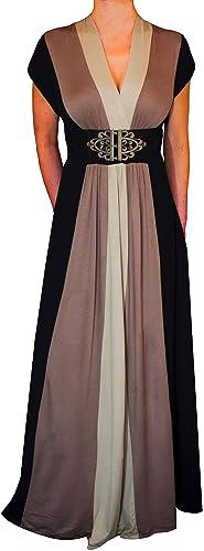 Funfash Plus Size Clothing Women Black Slimming Block Maxi Dress New Made in USA