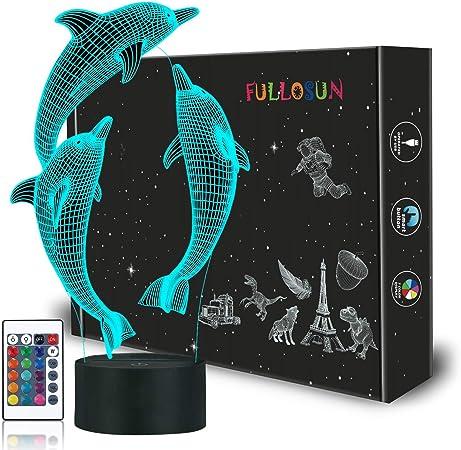 Amazon.com: Dinosaur 3d luz nocturna lámpara de proyección ...