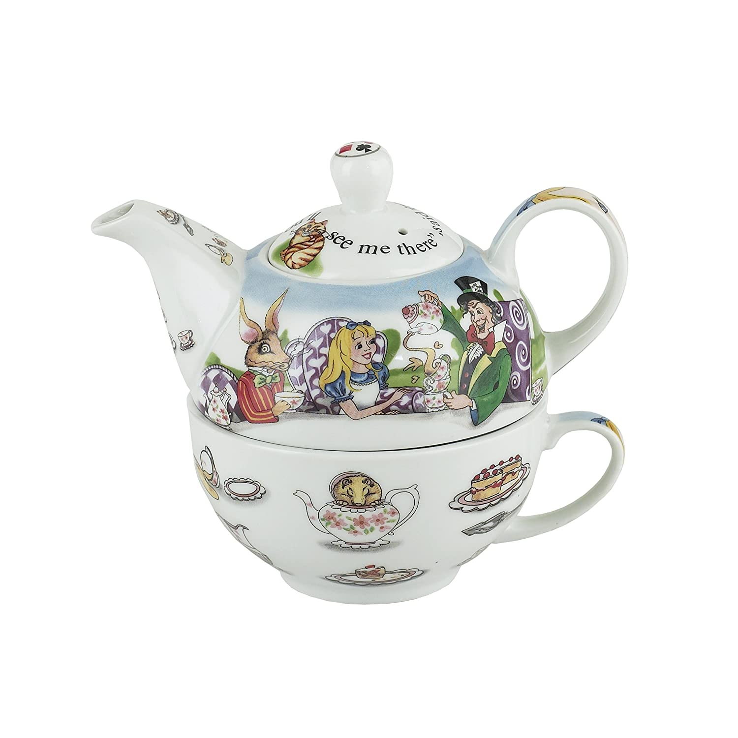 Amazoncom Cardew Design Alice In Wonderland Tea For One 16 Ounce