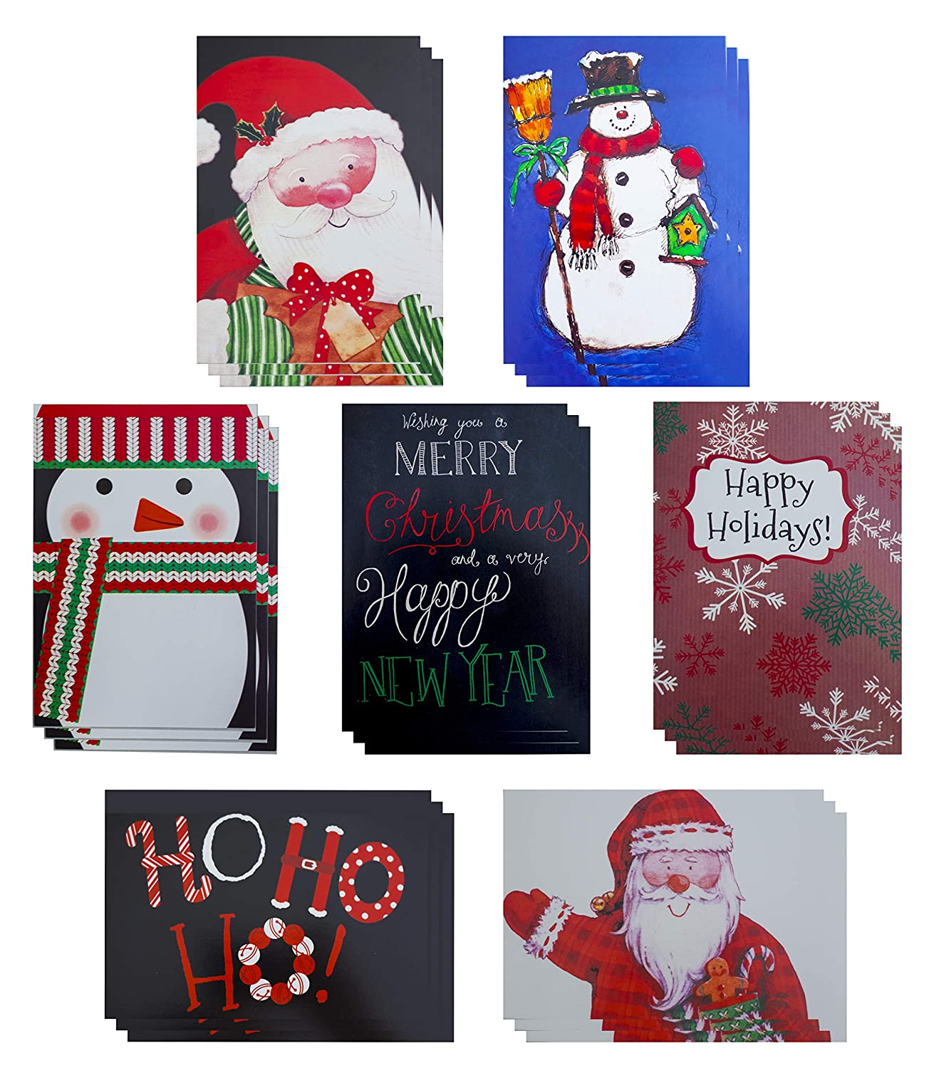 25 Count Great Value Religious Christmas Cards Assorted Family ...
