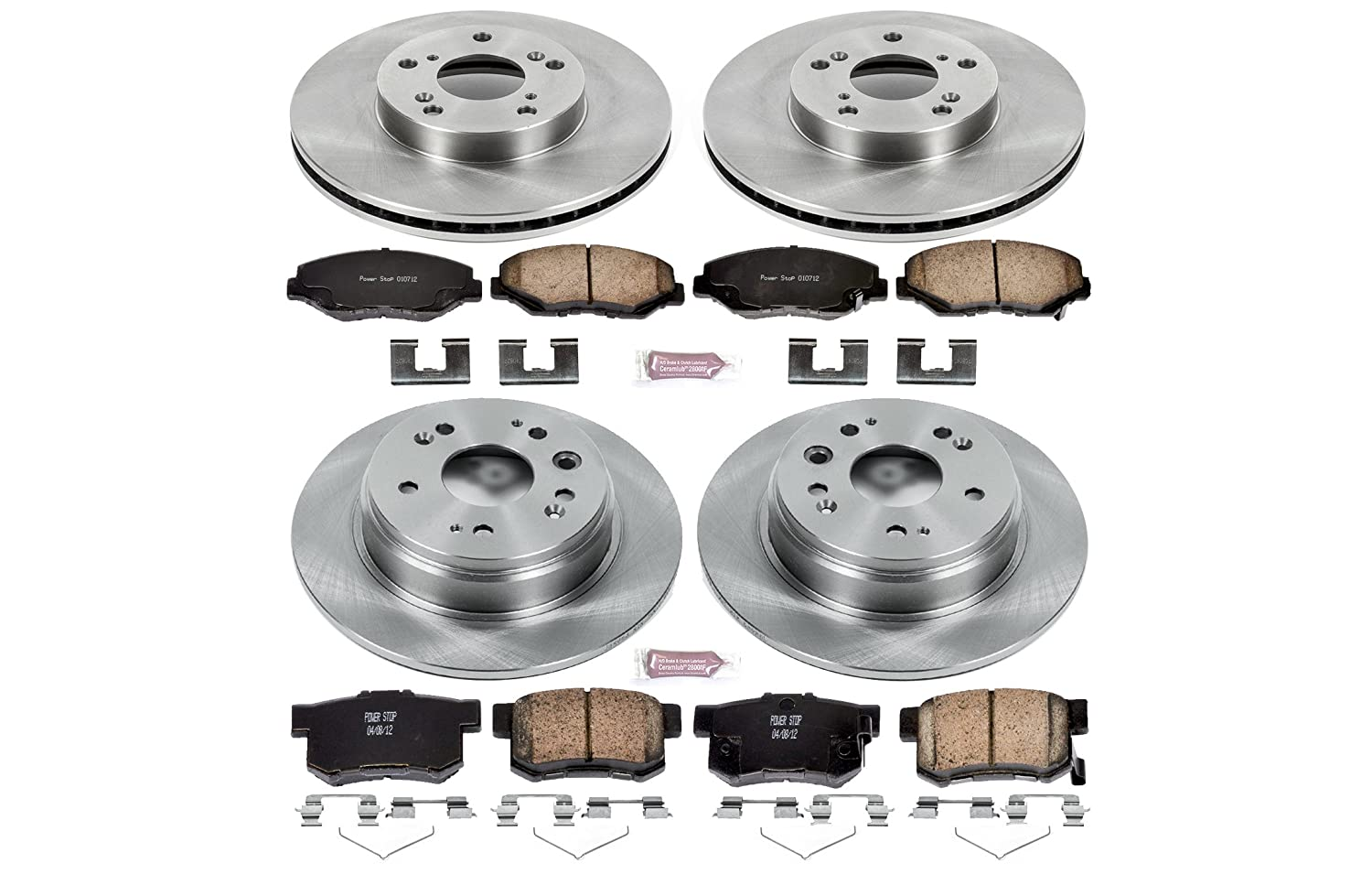 Autospecialty KOE6171 Daily Driver 1-Click OE Replacement Front//Rear Brake Kit
