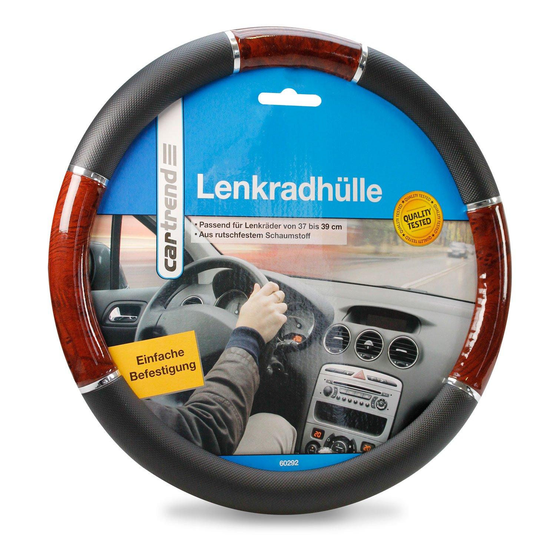 Cartrend 60296 Premium Lenkradh/ülle Schwarz//Blau