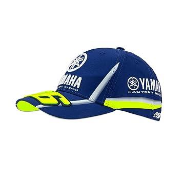 Gorra de Valentino Rossi VR46, Yamaha Factory Racing, color azul: Amazon.es: Deportes y aire libre
