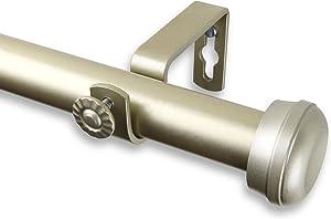 "Rod Desyne 1"" Rosen Curtain Rod, 48-84 inch, Light Gold"