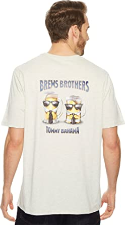 Tommy Bahama Men's Brews Brothers T-Shirt Light Grey Heather Small