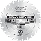 Freud LM72M010 Industrial Heavy Duty Rip Saw Blade 10-Inch by 24 Flat Top 5/8-Inch Arbor Ice Coated, One Size, Multi