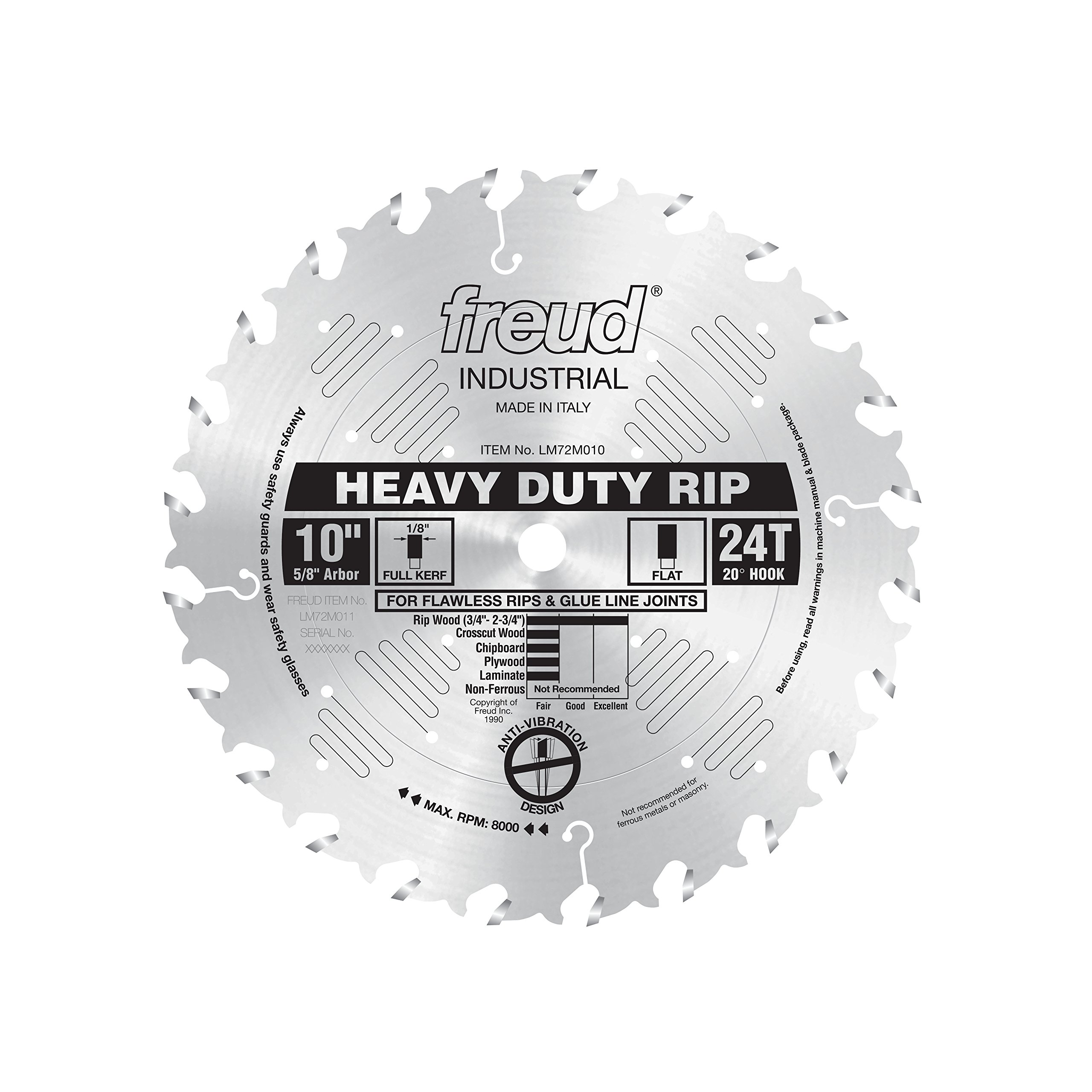 Freud 10'' x 24T Heavy-Duty Rip Blade (LM72M010) by Freud