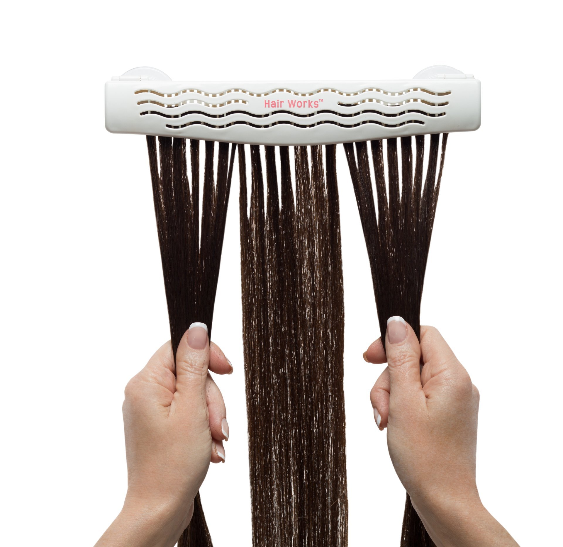 Hair Works 4-in-1 Hair Extension Style Caddy - Lightweight, Waterproof and Portable, This Hair Extension Holder Is Designed To Securely Hold Your Extensions While You Wash, Style, Pack and Store Them by Hair Works (Image #1)