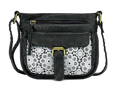 d72ecd91da3f6 Scarleton Front Lace Crossbody Bag H192601 - Black