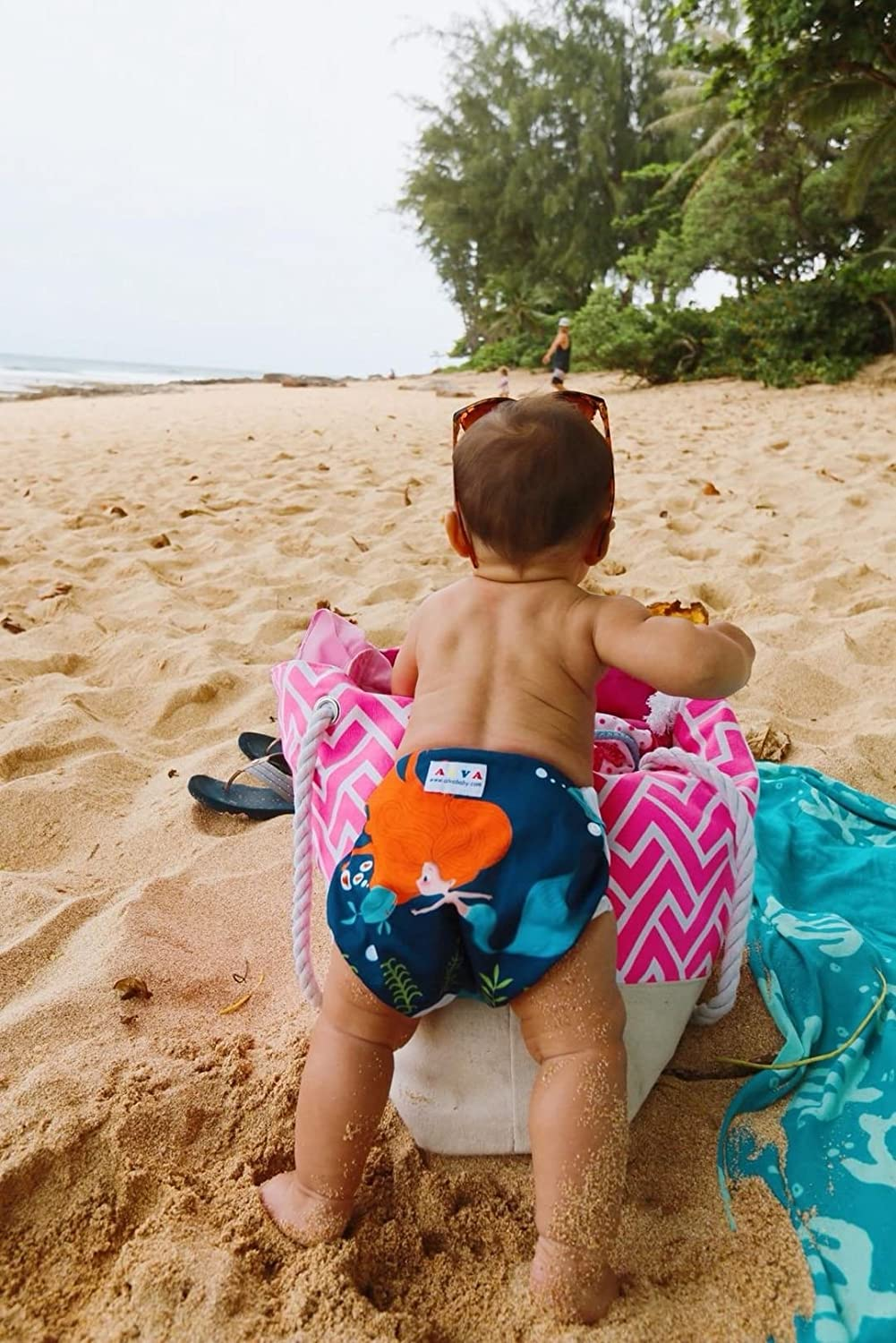 ALVABABY Swim Diapers for 0-3 Years Large Size 2pcs Reuseable Washable /& Adjustable for Swimming Lesson /& Baby Shower Gifts