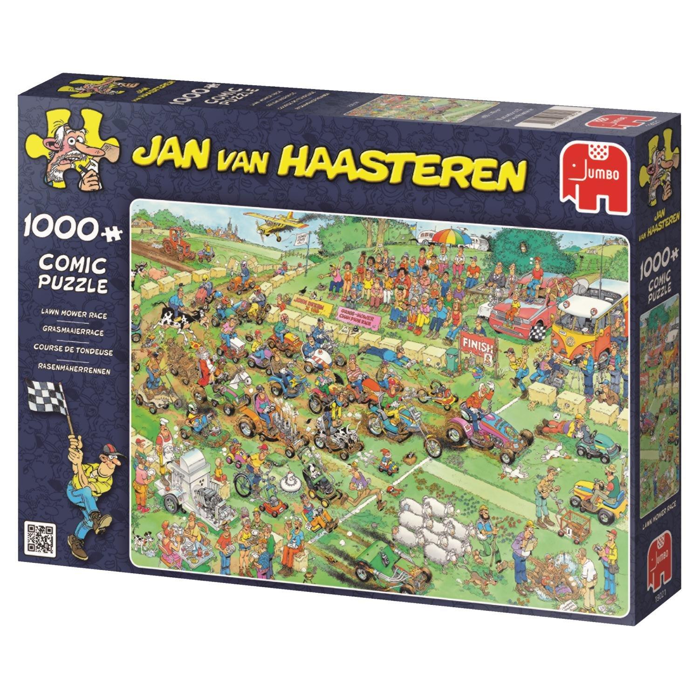 Rasenmäherrennen Puzzle 1000 Teile Spiel Deutsch 2015 Jan van Haasteren