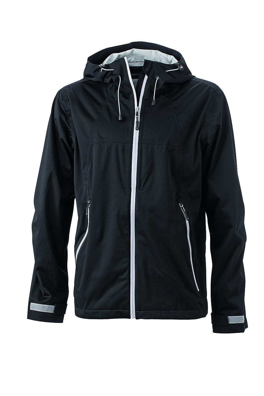 noir argent L Veste Trekking randonnée Homme Softshell Ultra-légère Coupe-Vent imperméable