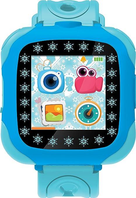 Disney Frozen Reloj, cámara smartwatch, Color Azul (Lexibook DMW100FZ)