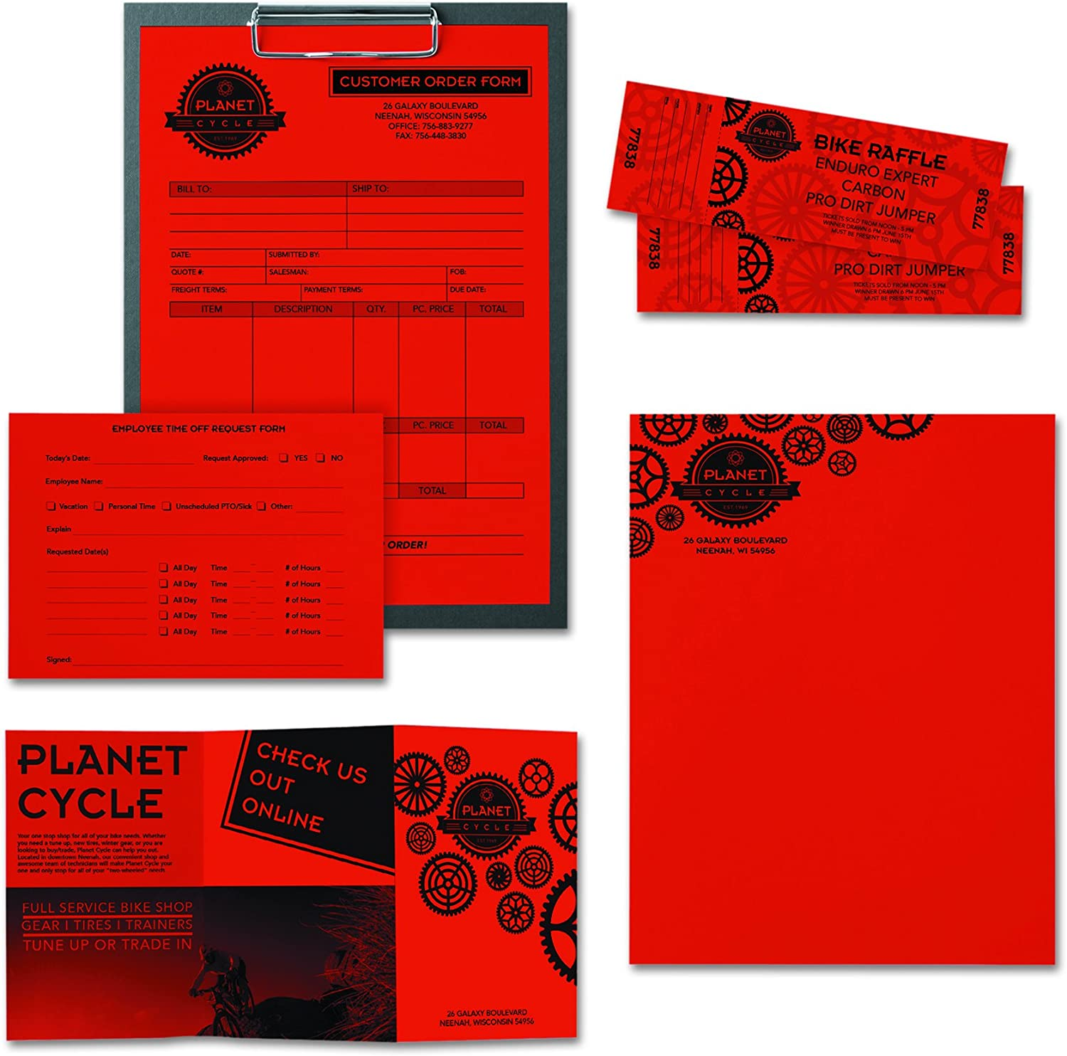 8 1//2 x 11,Re-Entry Red,500 Sheets//Ream 24lb Neenah Astrobrights Colored Paper