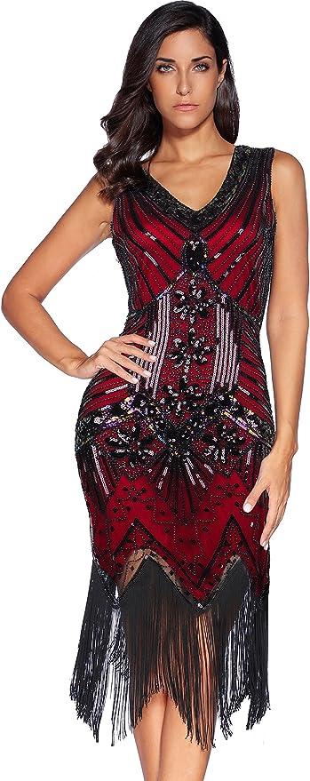 Meilun 1920s Flapper Evening Dress