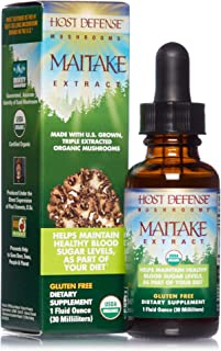 product image for Host Defense, Maitake Extract, Promotes Normal Blood Sugar Metabolism Already Within The Normal Range, Daily Mushroom Supplement, Vegan, Organic, 1 oz (30 Servings)