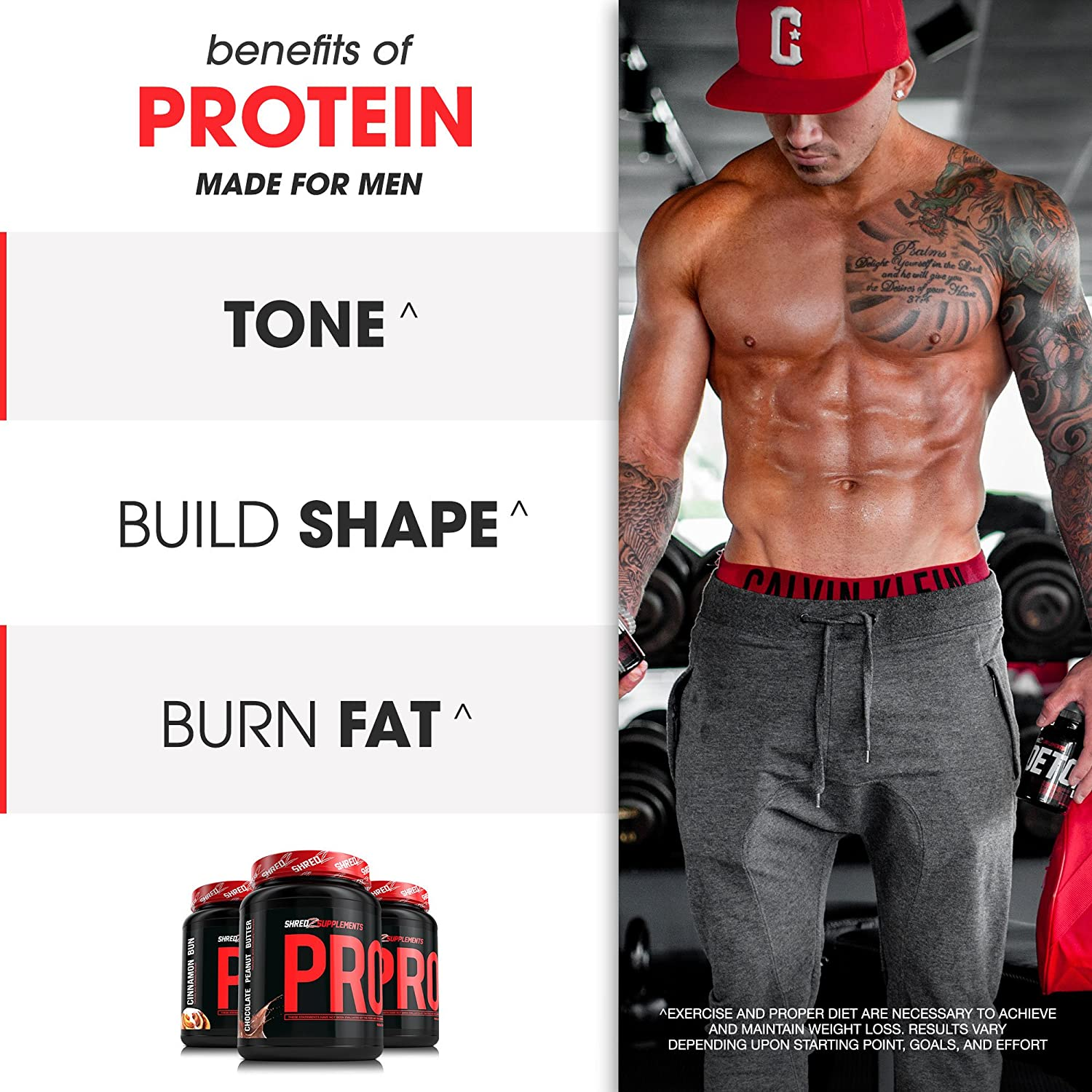 Whey Protein Powder, Cinnamon Bun, 2 Pound for Mass and Lean Muscle Best Tasting