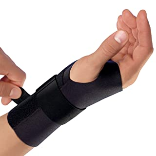 Futuro Energizing Wrist Support, Moderate Stabilizing Support, Right Hand, Large/X-Large, Black