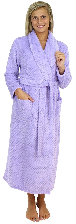 Sleepyheads Women's Jacquard Plush Fleece Dressing Gown Robe