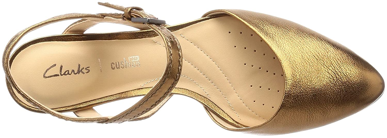 09f1f8f0c80e8d Clarks MENA Yarn Leather Shoes in Bronze Metallic  Amazon.co.uk  Shoes    Bags