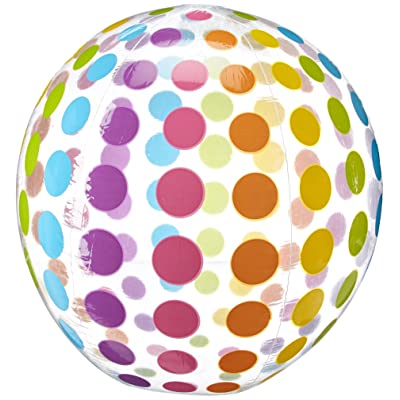 Intex Jumbo Inflatable Colorful Polka Dot Giant Beach Ball (Set of 2) | 59065EP: Toys & Games