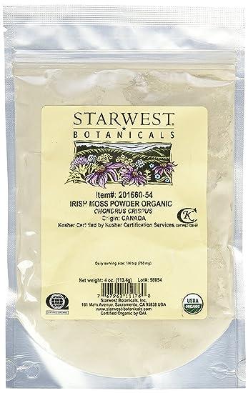 Amazon com: Irish Moss Powder Organic - Chondrus crispus, 4