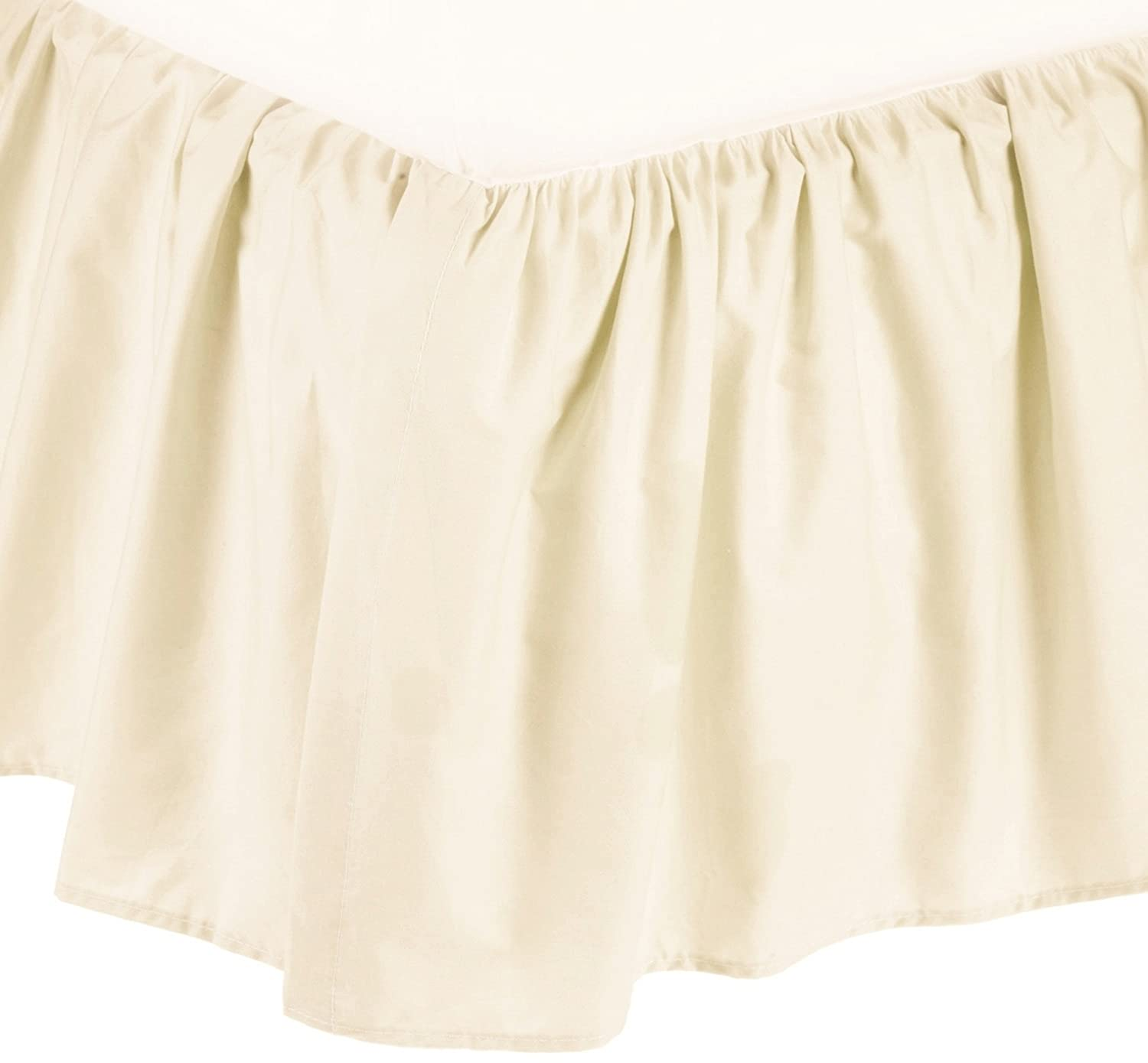 American Baby Company 100% Cotton Percale Portable Mini Crib Skirt, Ecru 161-Ecru