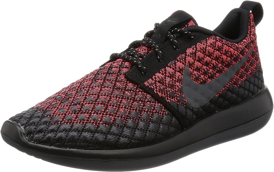 597efe2df6622 Nike Mens Roshe Two Flyknit 365 Bright Crimson Dark Grey Black Running Shoe  8