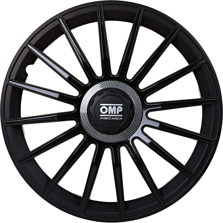 Omp Licencia OMP1415 Tapacubos, Negro/Carbón, 14