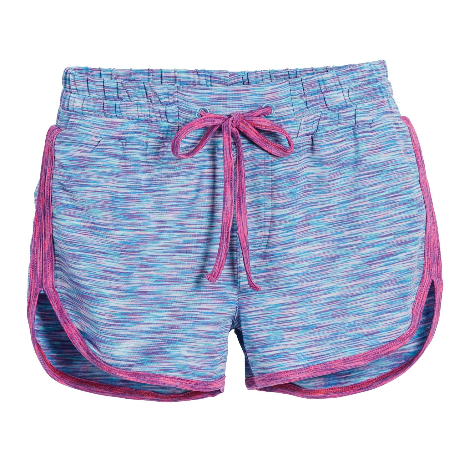 Beachcombers Girls Polyester/Spandex Mermaid Track Shorts With Elastic Waist Band Pink Small